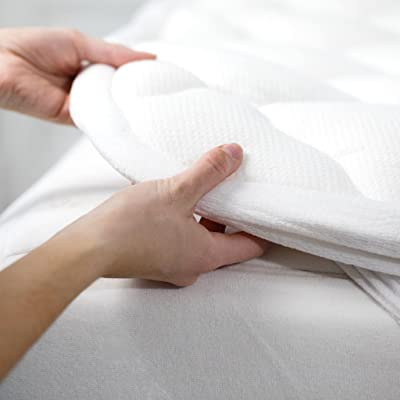 Exceptional Sheets Bamboo Mattress Pad with Fitted Skirt - Extra Plush Cooling Topper
