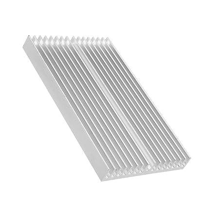 Accesorios impresora 3D Aluminio 100 * 60 * 10mm PCB del disipador ...