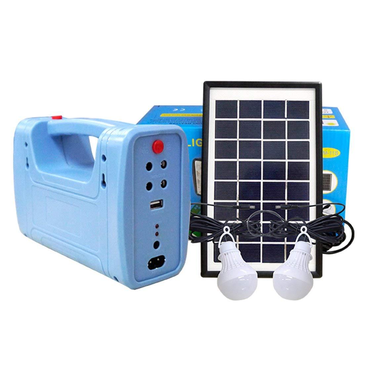 Caricabatteria Light System Generator Comitato di energia solare del USB del corredo Indoor Outdoor Lighting sopra scarico Proteggi (trasmetta a caso)