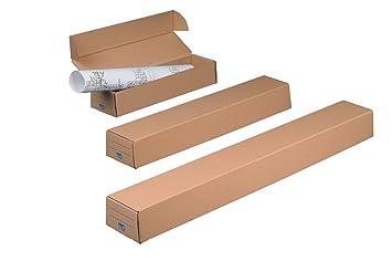 Nips 141687114 Plan Case Basic 1 - Cajas para envíos y almacenamiento para A2, 20 unidades, 45 x 7,5 cm, color marrón: Amazon.es: Oficina y papelería