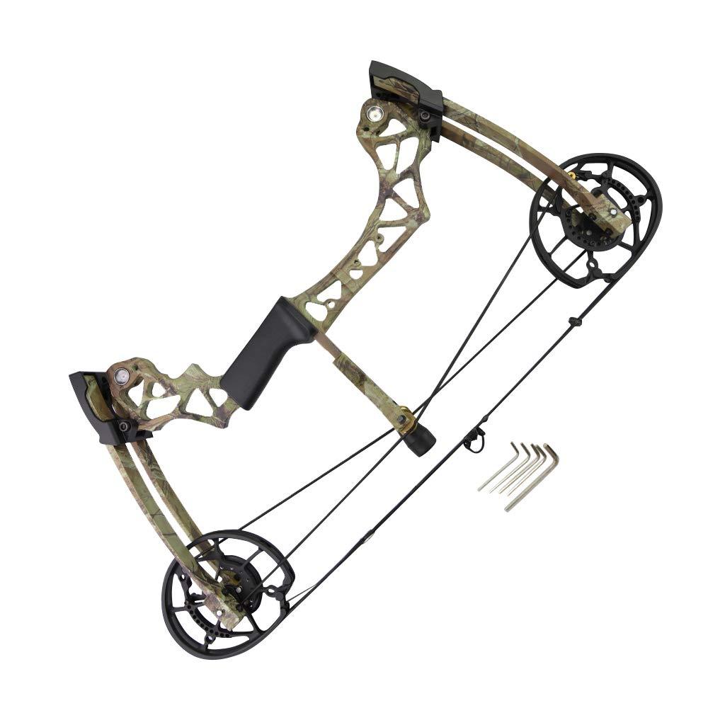 MILAEM Bogenschie/ßen Compoundbogen Katapult Stahl Kugel Bogenfischen Jagd Au/ßenaufnahmen 40-60lbs Einstellbar Erwachsener Bogen