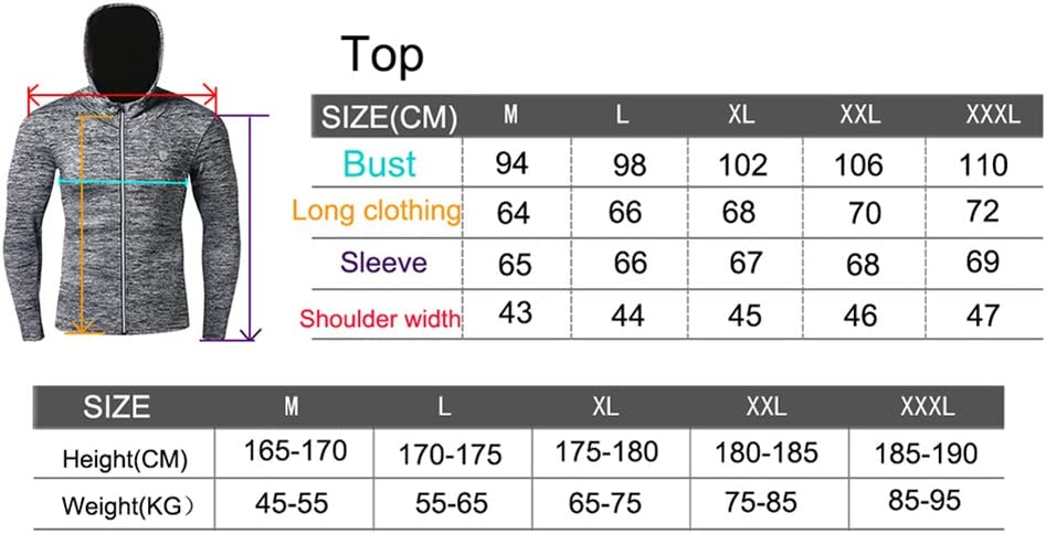 SKYSPER Mens Hoody Workout Running Jackets Base Layer Top Quick Dry Full Zip Activewear Coat with Thumb Holes Fitness Sports Blazer Hoodie Sweatshirts