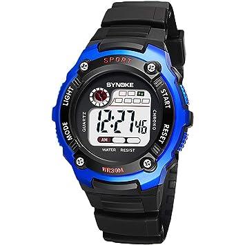 ZCF Reloj Digital para Niños Reloj Electrónico para Niños Reloj Digital Reloj para Niños Relojes para Niños Reloj para Niños Niñas,Blue: Amazon.es: Jardín