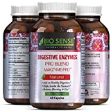 Pure Digestive Enzyme Capsules with Lipase Amylase Protease - Aids Digestive System Natural Immune System Booster - Breaks Down Carbohydrates Reduce Bloating Gas Digestive Enzymes Pills by Bio Sense