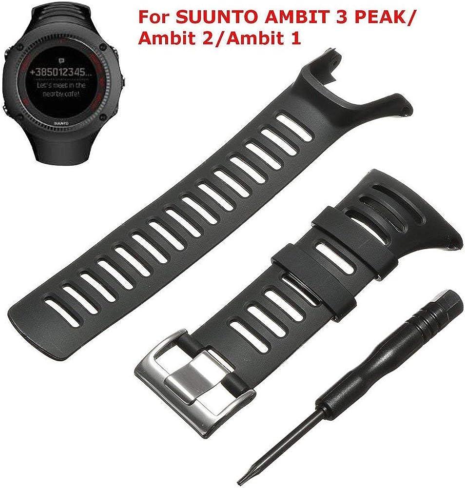 BUTEFO Bracelet de Montre, Watch Strap Kit de Remplacement pour Suunto Ambit 3 PeakAmbit 21
