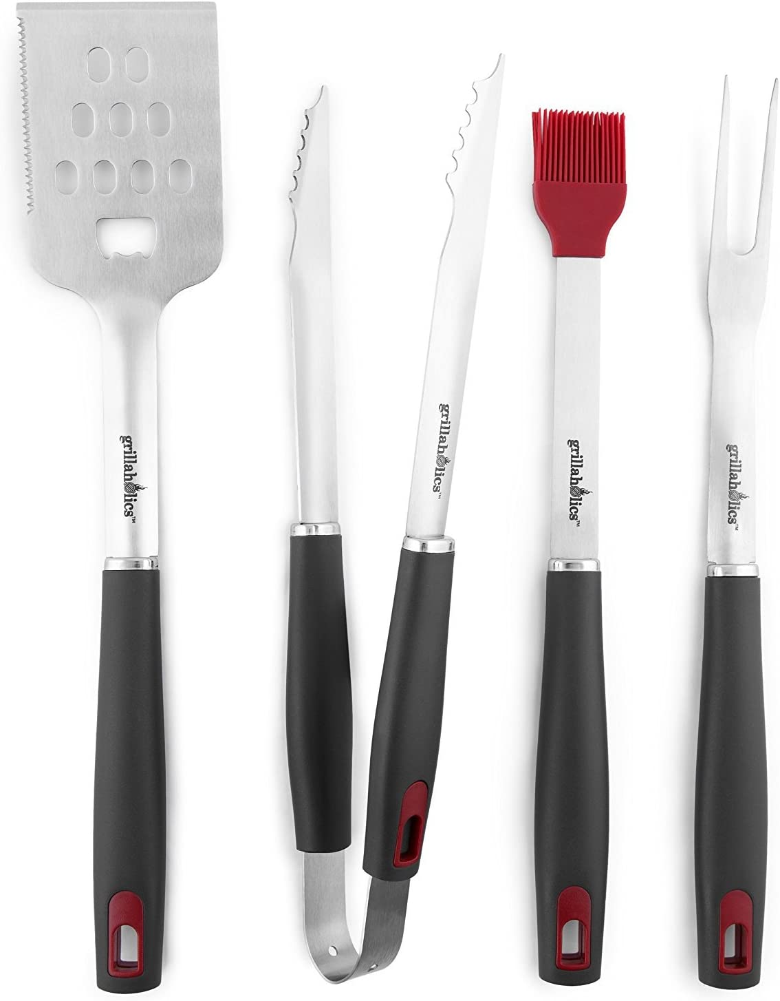 Pack of 4 1 Count Uncle Jeffs BBQ Pit 613739988770 Heavy Duty BBQ Tool Set with Barbecue Mat