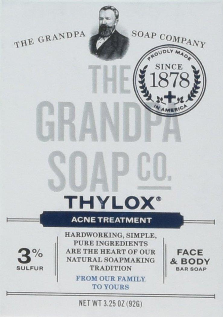 The Grandpa Soap Company おじいちゃんのSOAP、THYLOXにきびTRTMNT、3.25 OZ、6パック B001E0OQP0