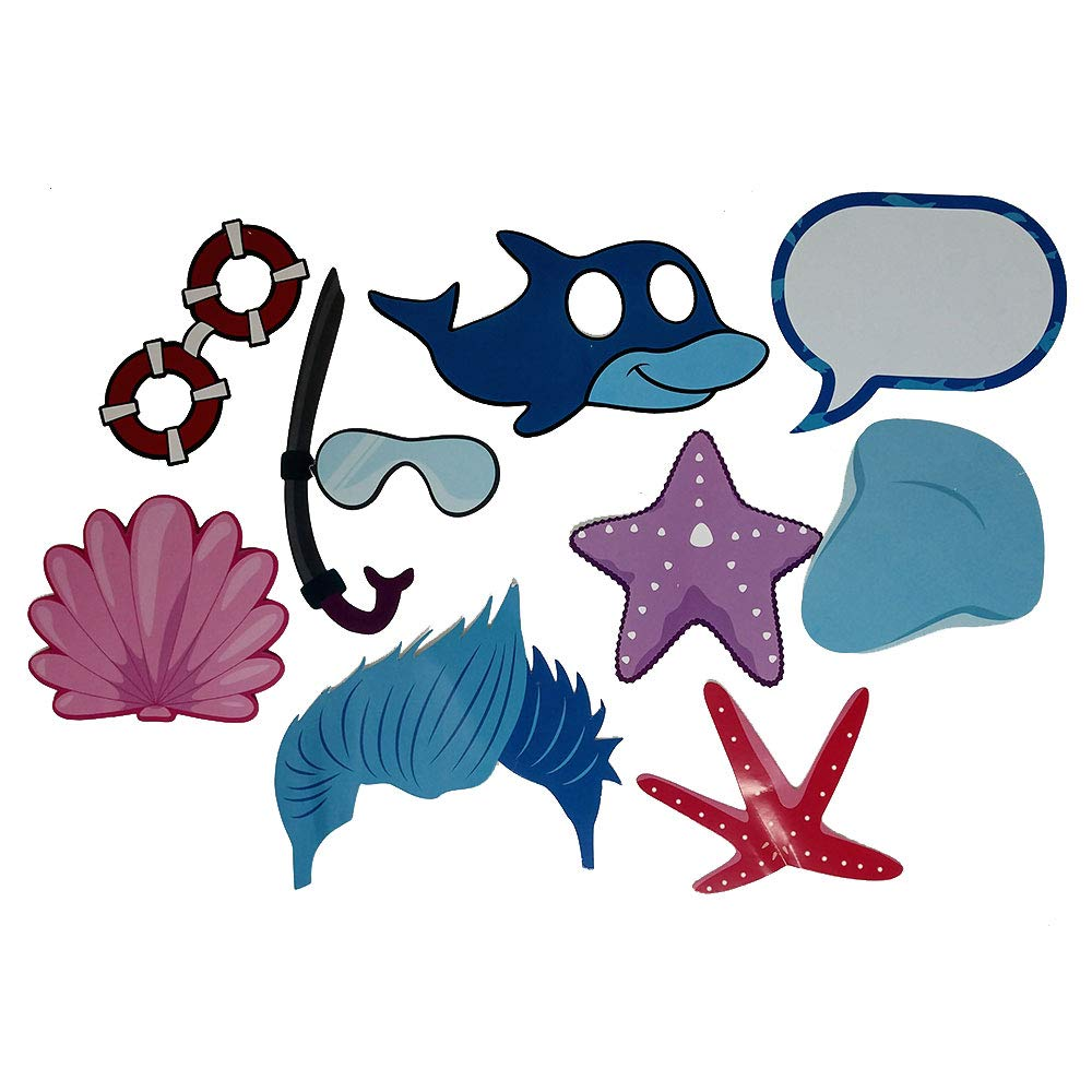 32 Pieces Our Dolphin Photo Prop Party Favors are Pre-Made for Photo Booths for Your Convenience! Kids Birthdays Not DIY Dolphin Parties and More Dolphin Photo Props