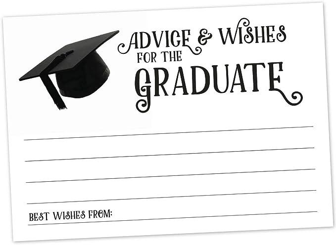 MW36990 Graduation Advice Cards High School or College Graduate Guest Book Alternative Keepsake