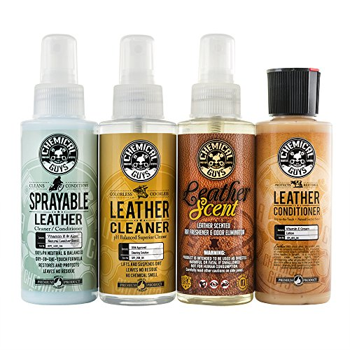 Chemical Guys HO_L117 Leather Lovers Sample Kit (4 - Leather 4 Care Way
