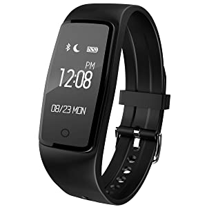 Fitness Tracker, FENGXUN Waterproof Smart Wristband Bluetooth 4.0, Activity Tracker with OLED Touch Screen, Heart Rate Monitor, for Android and IOS
