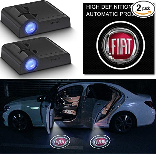 Amazon.com: Wireless Car Door Logo LED Lights Compatible with Fiat Projector Puddle Lights Welcome Lamp Ghost Shadow Lights HD Emblem Symbol Courtesy Light (forFiat) 2 Pcs: Automotive