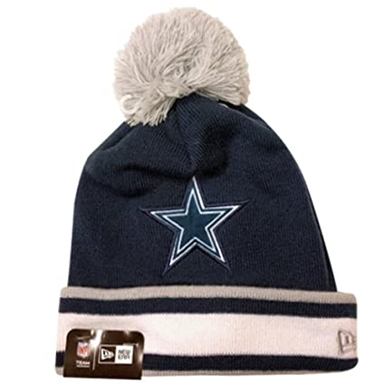 d2f170979f1 ... italy amazon dallas cowboys nfl team relation knit hat with pom sports  outdoors eac48 e6c3b