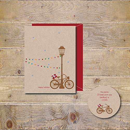 10 Merry Christmas Cards Holiday Recycled Rustic