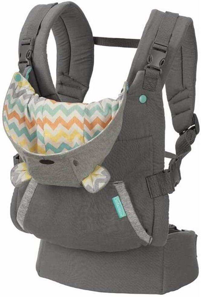 Infantino Porte-B/éb/é Cuddle Up avec Assise Ergonomique pour Enfants de 5 /à 18kg avec Capuche Amovible et Ceinture Large pour Un Confort de Portage Optimal