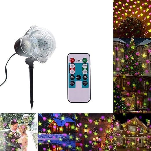 YLOVOW Proyector de Navidad Luz LED Nieve Caída Luces de la Noche ...