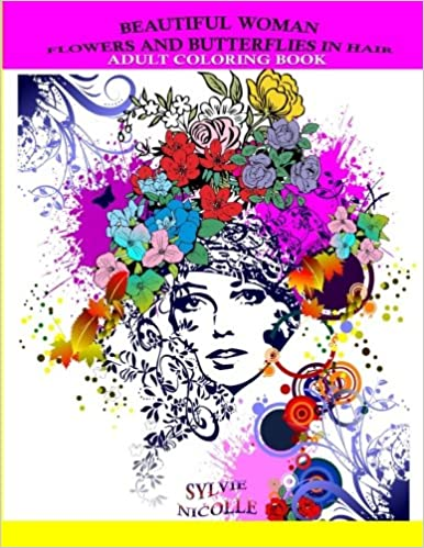 Amazon.com: Beautiful Woman: Flowers and Butterflies in Hair (Adult ...