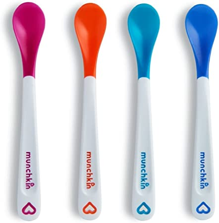 Multi-Coloured Munchkin White Hot Infant Safety Spoons Pack of 4