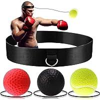 BONKEEY - Pelota de Boxeo con 3 Niveles de dificultad y Diadema, Boxing Reflex Ball, Pelota Boxeo, Ideal para reacción, Agilidad, Velocidad de perforación, Habilidades de Lucha y coordinación de Mano y Ojo