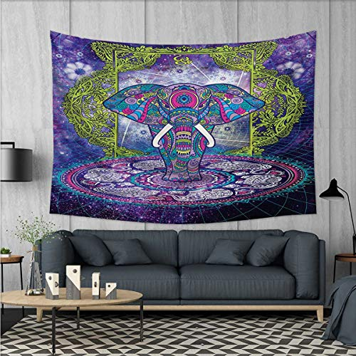 Anhuthree Ethnic Wall Tapestry Sacred Figure Elephant Standi