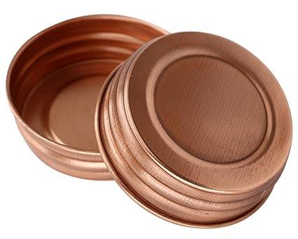 Amazon Com Shiny Copper Decorative Mason Jar Lids 4 Pack Regular