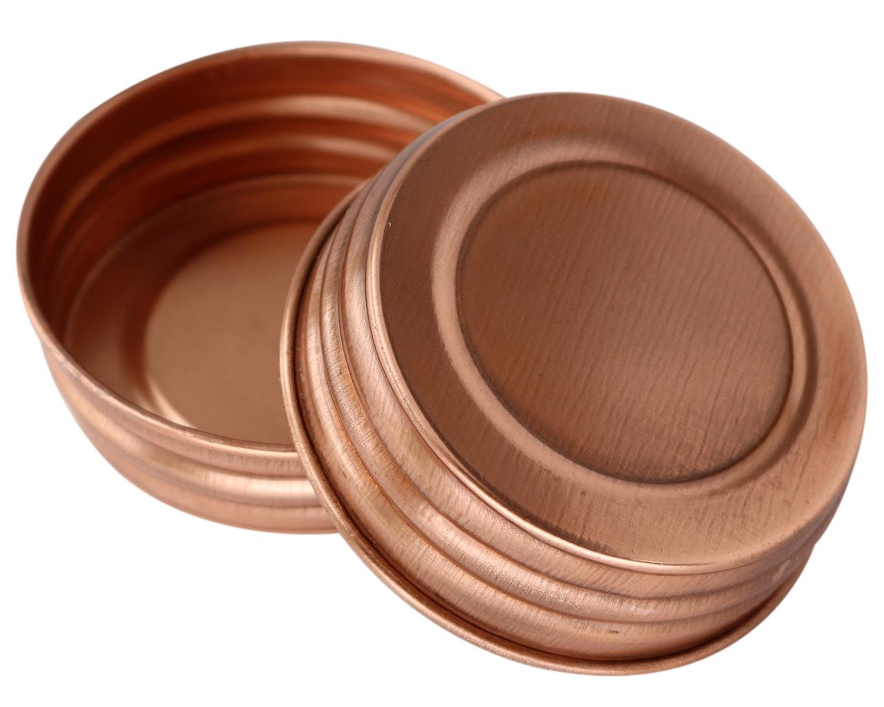Shiny Copper Decorative Mason Jar Lids (4 Pack, Regular Mouth)