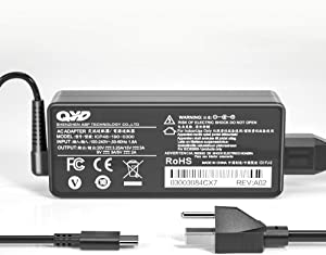 QYD 65W 45W USB Type-C PD Laptop Charger Replacement for Power Adapter Lenovo Yoga 720-13 720-13IKB 730-13 910 920 910-13IKB ThinkPad T480 T580 USB-C X1 Carbon 5th 6th Gen, iPad Pro Power Supply Cord