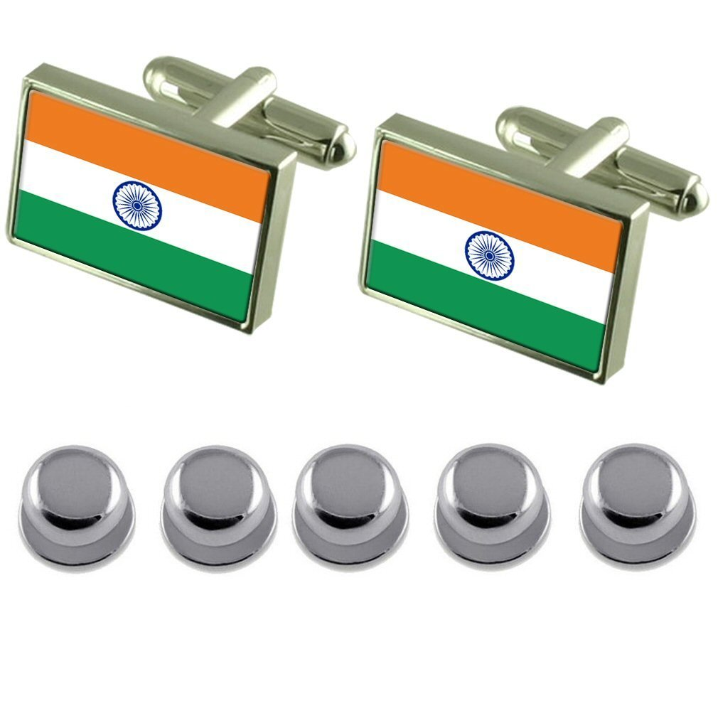 Shirt Dress Studs India Flag Cufflinks