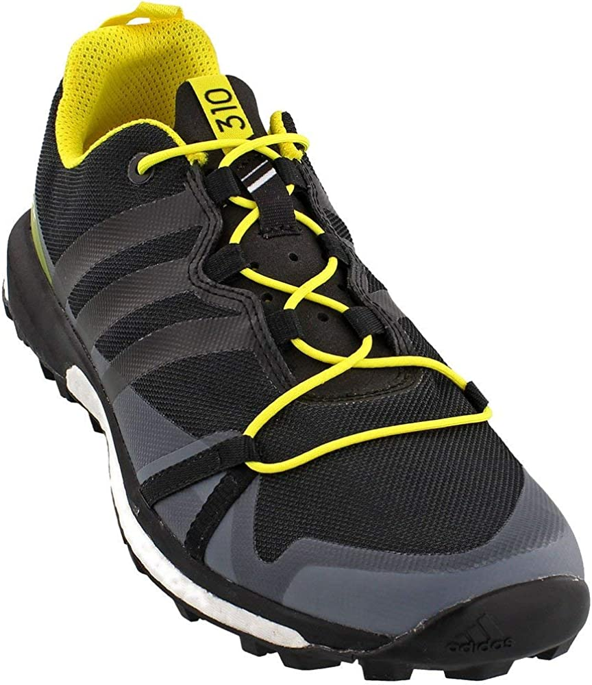 adidas outdoor Terrex Agravic Shoe – Men s Dark Grey Black Bright Yellow, 10.0
