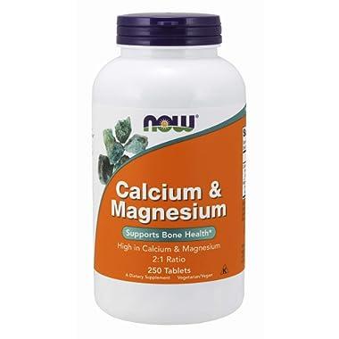 NOW® Calcium & Magnesium, 250 Tablets