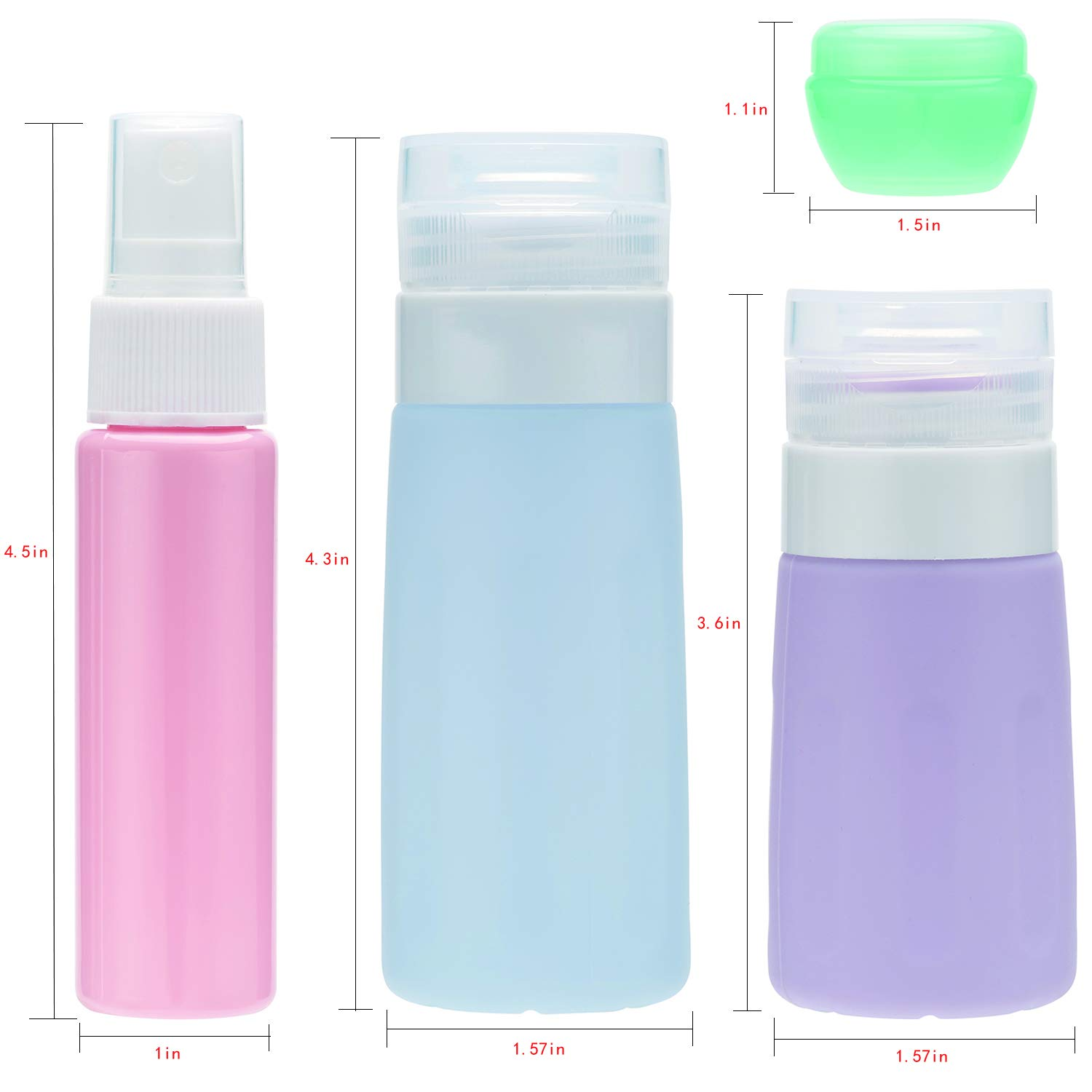 Travel Bottles Travel Containers TSA Approved Travel Size Toiletries Containers