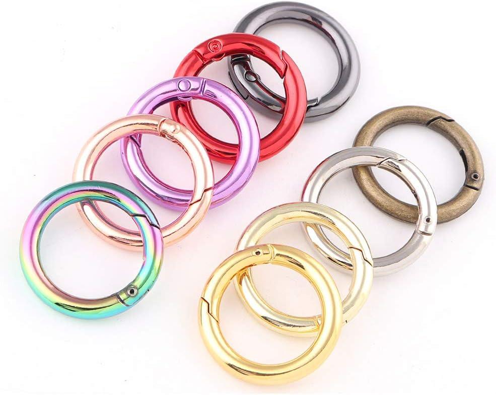 61mm Rose gold O-rings Spring Gate Ring Round Gate Ring Spring Ring Clasp Gate Push Snap Hooks Carabiner Snap Clip Trigger Spring clasp diy