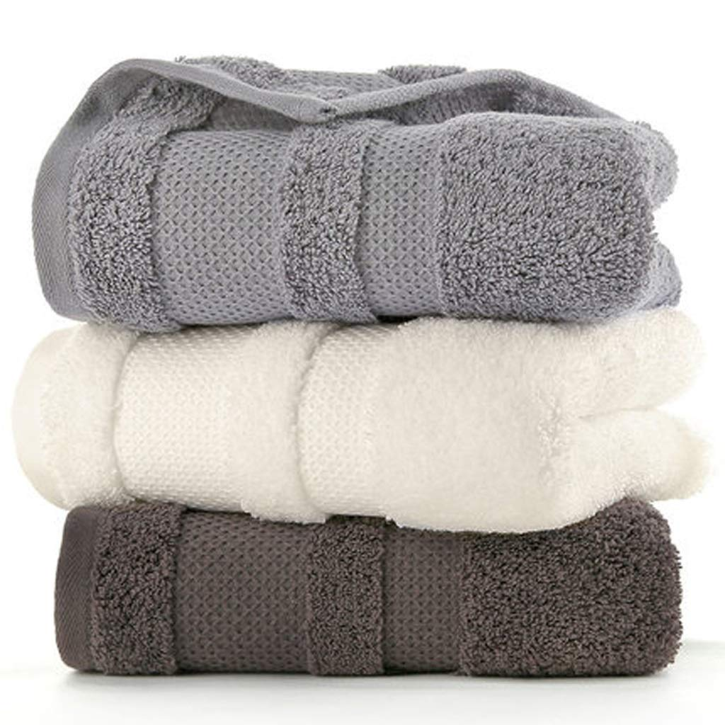 Maoji 3 Large Towels Cotton Wiping Face Adult Couple Washcloth Soft Water Absorption (Color : Group D)