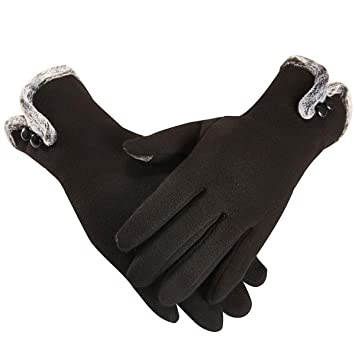 Womens Winter Outdoor Fashionable Suede Fabric Wind-proof Warm Touch Screen Gloves Regular Tea Drinking Improves Your Health Men's Gloves
