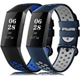 Find-MyWay Compatible with Fitbit Charge 4/Charge 3/Charge 3 SE Sport Bands for Women Men,Charge 4 Charge 3 Soft Fashionable
