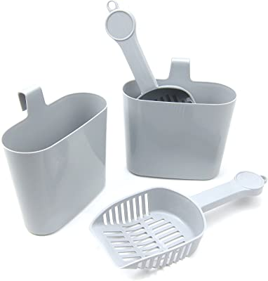 Cat litter scoop with stand holder