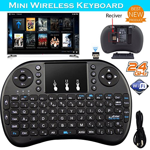 2.4G Mini Wireless Keyboard Fly Air Mouse Touchpad For Android Smart TV Box PC
