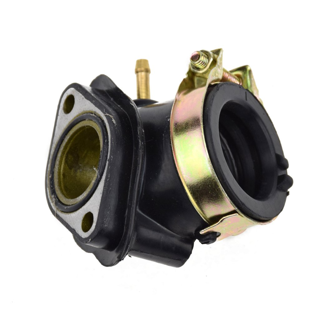 HIAORS Intake Manifold Pipe for GY6 Hammerhead twister Manco Tomerlin Crossfire Carter Brothers Howhit Yerf dog 150cc Go Kart Chinese 157QMJ 1P57QMJ Roketa Scooter Moped Atv Parts Generic