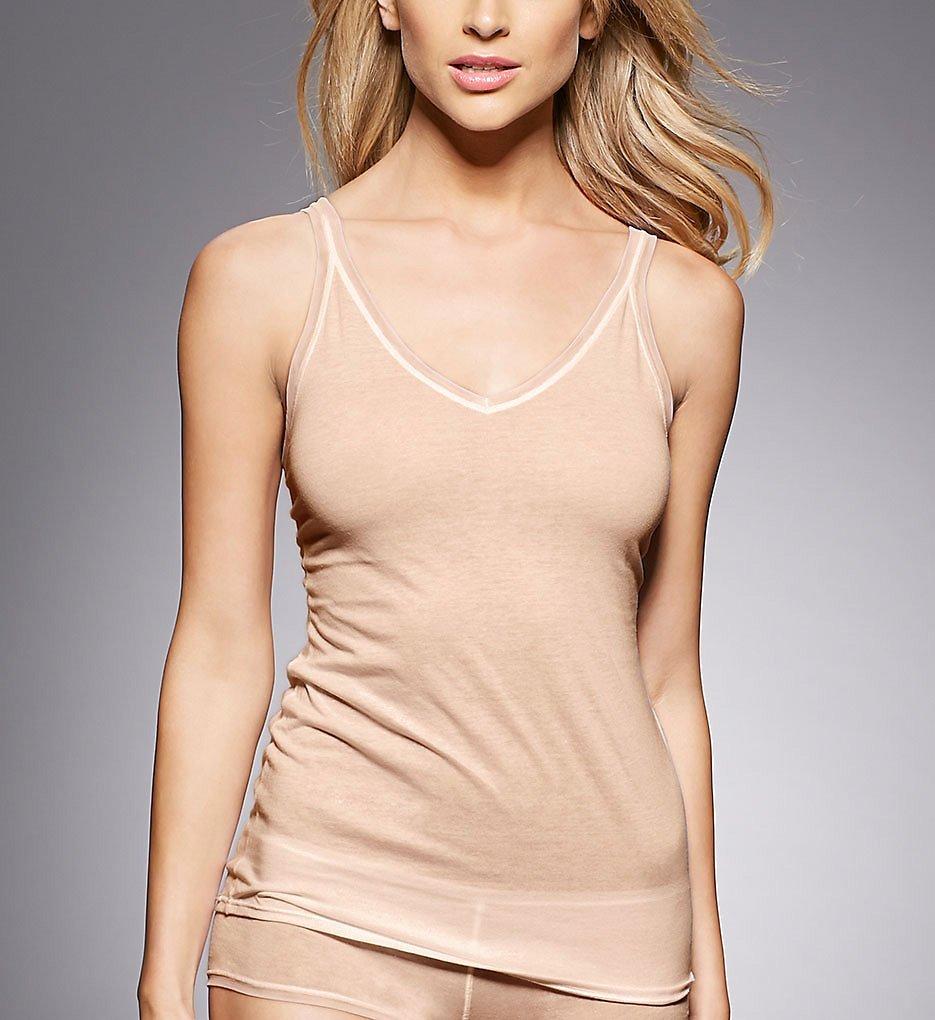 fine lines Pure Cotton Thin Strap V-Neck Camisole (13RCA34) M/Skin