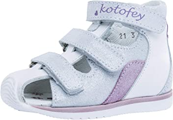 d26d44338c227 Kotofey Girls Pink Sandals 122123-22 Genuine Leather Orthopedic Sandals  with Arch Support