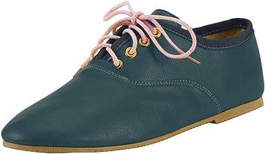 Zapatillas Deportivas De Mujer JORICH Zapatos Sneakers Zapatillas Mujer Running Casual Yoga Calzado Deportivo De Exterior De Mujer Zapatilla Borla A Juego De Color (Verde, EU:35 22.5cm/8.9
