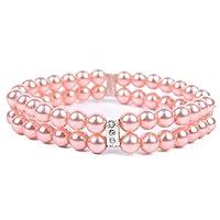 Zhou-pets store, 2file Pet collana collare cane gatto gioielli con perle strass rosa fascino