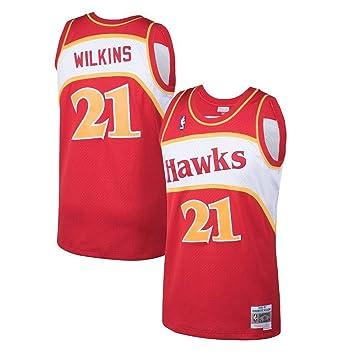 Mitchell   Ness Red White Atlanta Hawks Dominique Wilkins Swingman Jersey  (Red White d5f0e5477