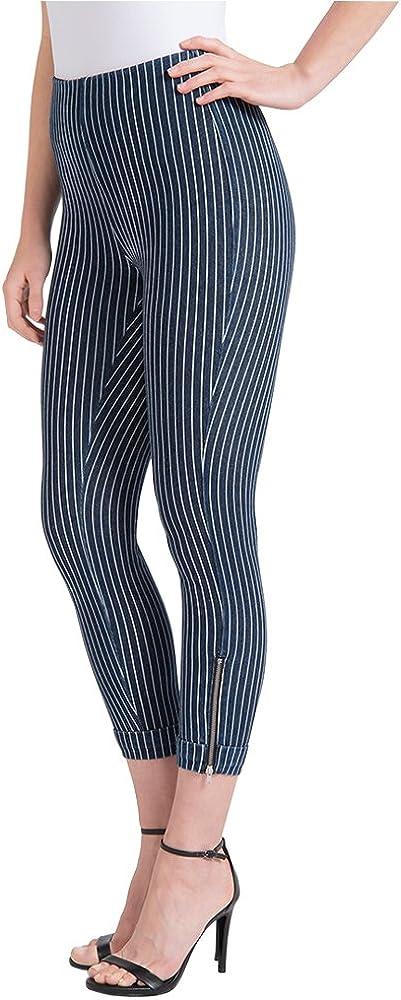 Lysse Women/'s Denim Cuffed Crop Legging Pant Style 1280 MSRP $88.00
