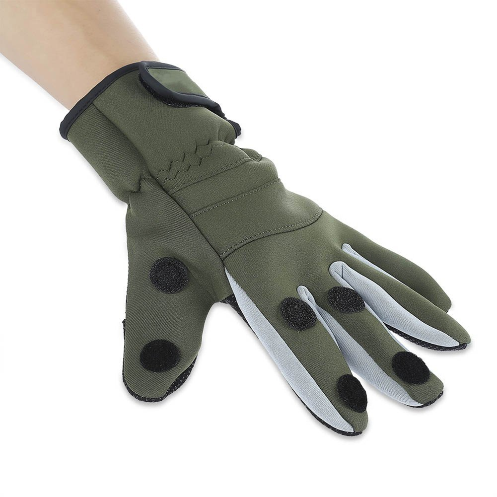 Outdoor Fishing Antislip Winter Warm Thicken Water Resistant Full Finger Gloves