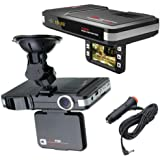 2In1 Car Camera DVR Dash Cam Recorder+Radar Laser Speed Detector Alert G-Sensor