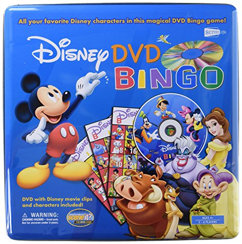 Disney DVD Bingo Game Tin by Screenlife