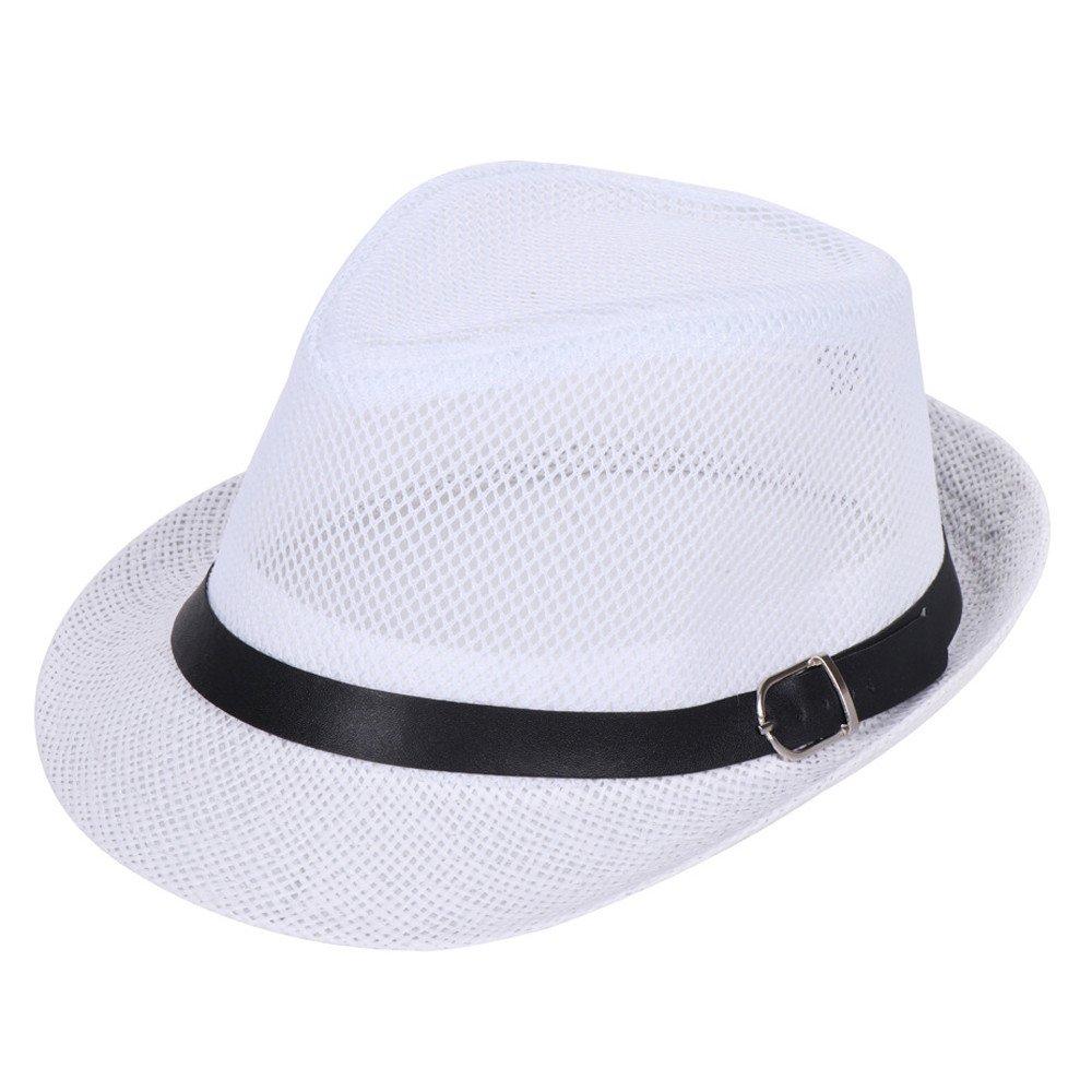 MERICAL Gorro Verano Mujer Sombrero De Paja Unisex Trilby Gangster ...