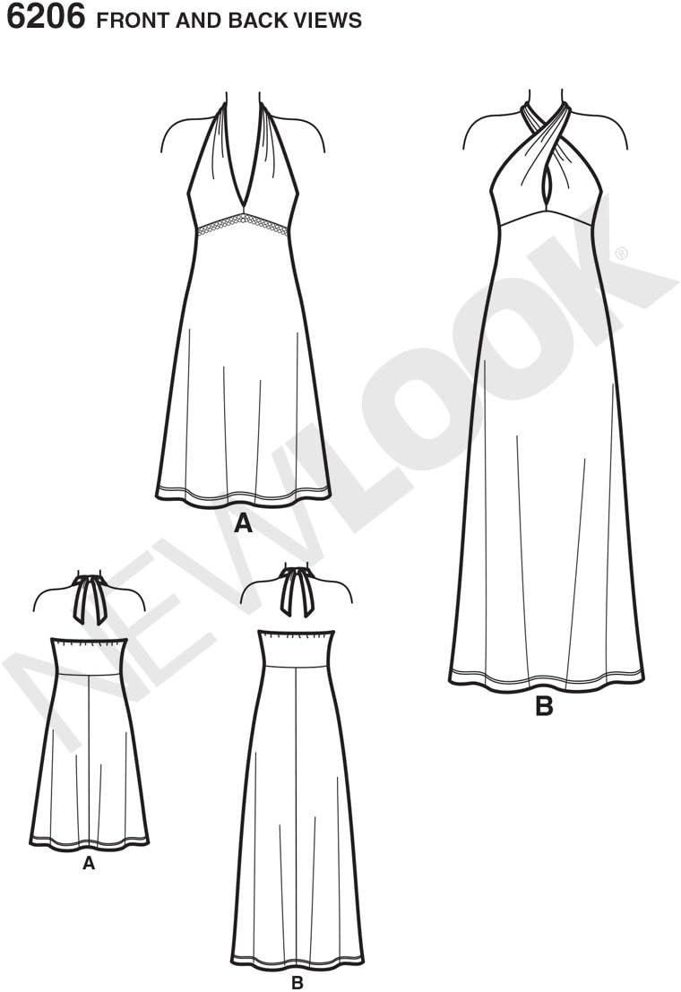 New Look NL6206 Patron de Couture Robe Dos Nu 22 x 15 cm