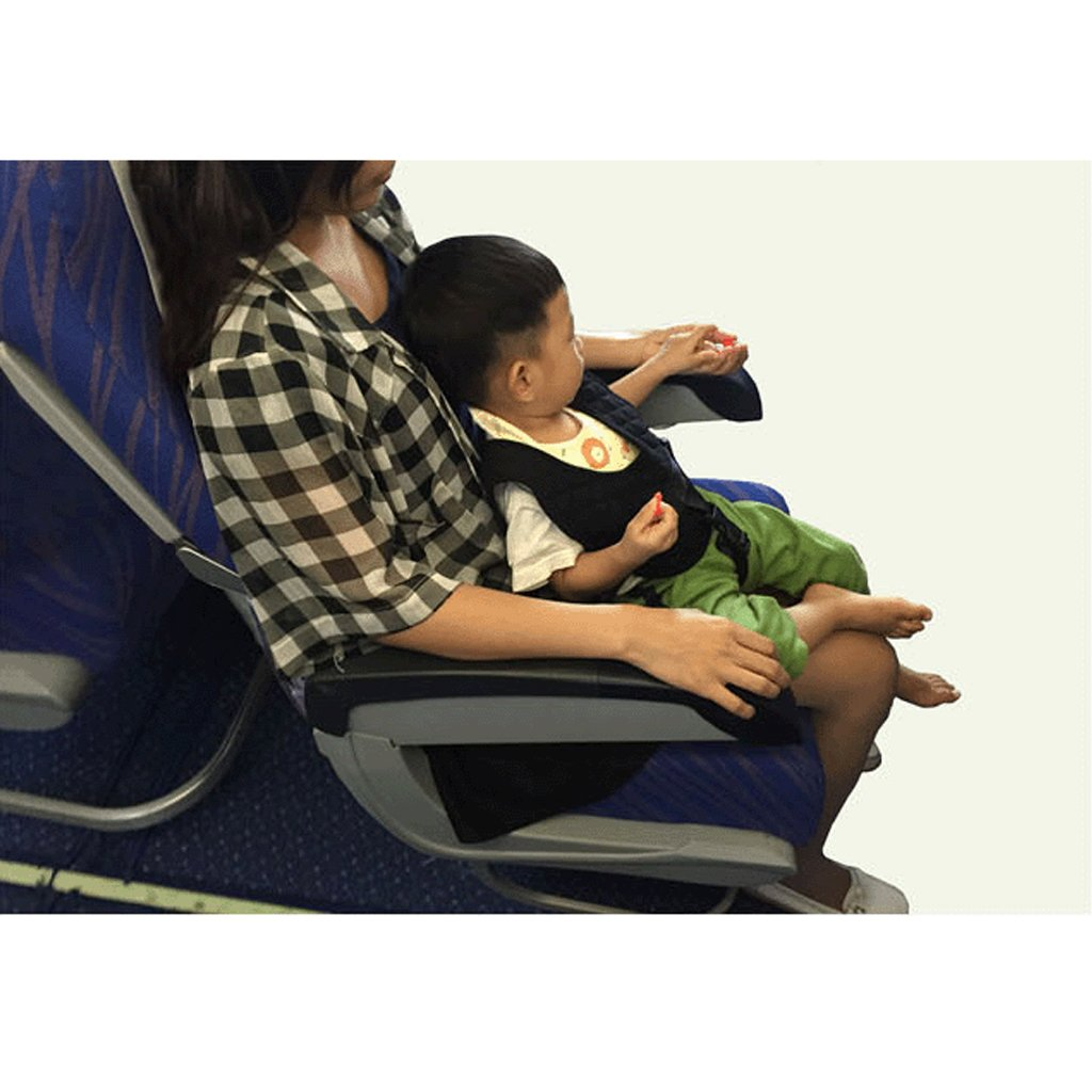 Baby Safety Vest Flight Train Car Safety Vest Portable High Chair Shopping Cart Safety Harness Strap Black